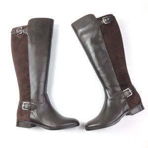 MARC FISHER Damsel boots 8 wide calf brown buckles